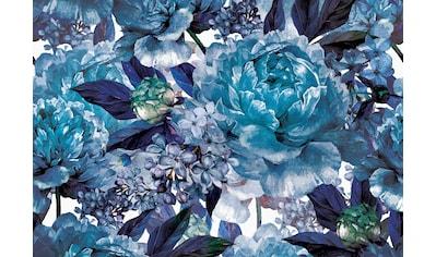 Consalnet Papiertapete »Blaues Muster mit Blume«, floral kaufen