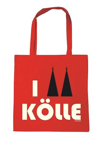 LOGOSHIRT Baumwolltasche mit I Love Kölle - Print kaufen