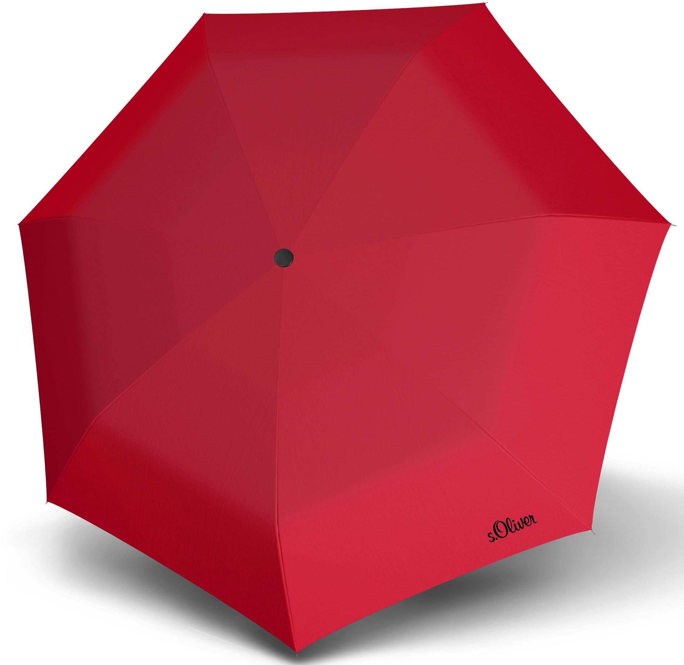 s.Oliver Taschenregenschirm Impact Taschenschirm, Red