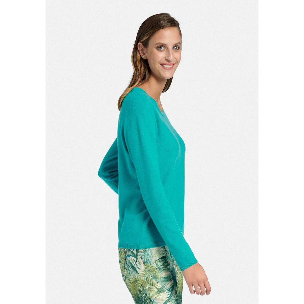 Peter Hahn Strickpullover »Rundhals-Pullover aus 100% Premium-Kaschmir«, Dekorative Naht
