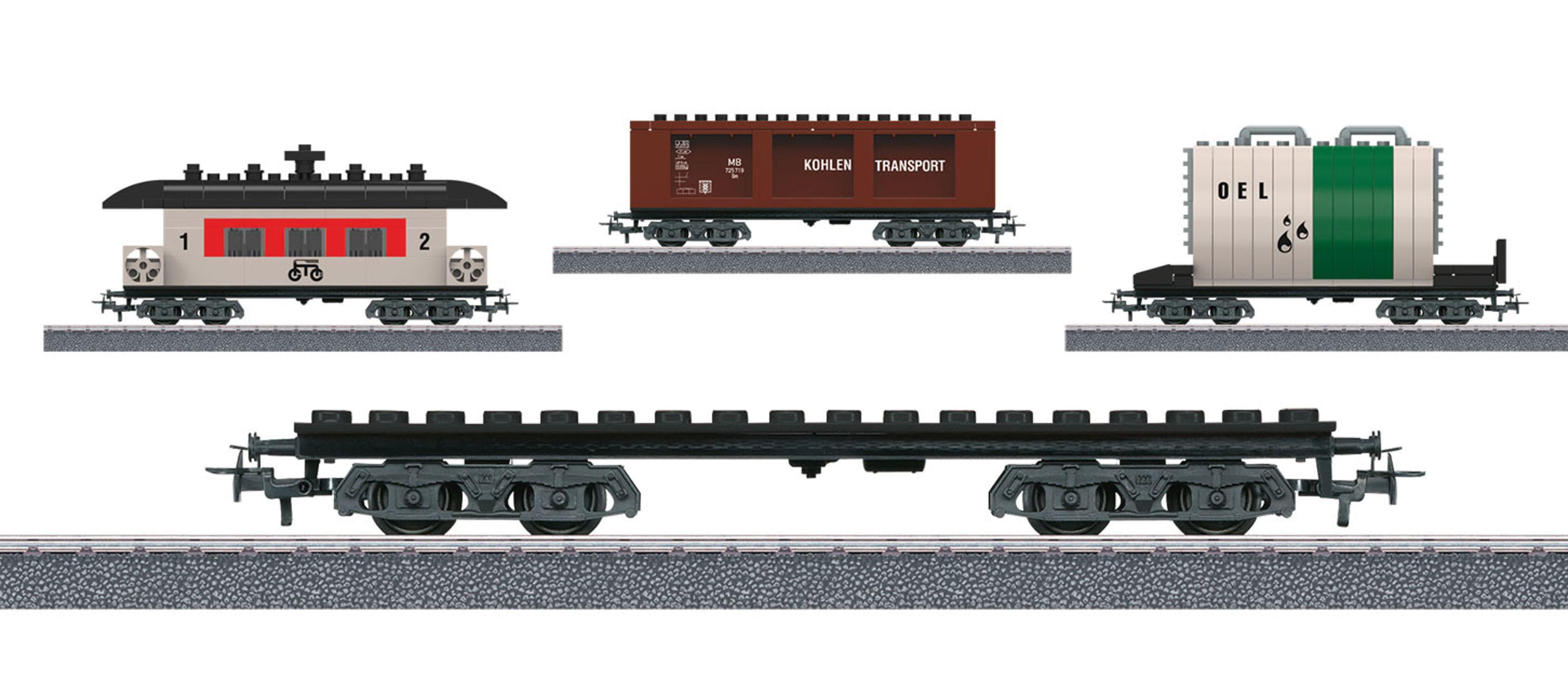 Märklin Güterwagen Märklin Start up - Bausteinwagen Set, Wechselstrom - 44736, Spur H0