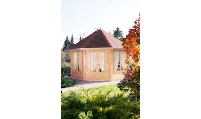 Wolff Holzpavillon »Roma 4.0«, (Set), BxT: 480x480 cm, mit Dachschindeln und Fußboden kaufen