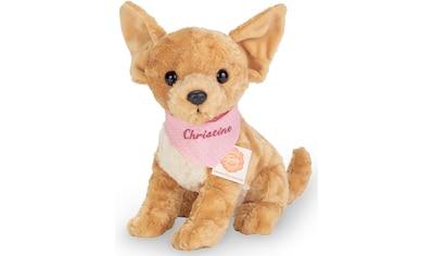 Teddy Hermann® Kuscheltier »Chihuahua mit rosa Halstuch, 27 cm«, mit individueller... kaufen