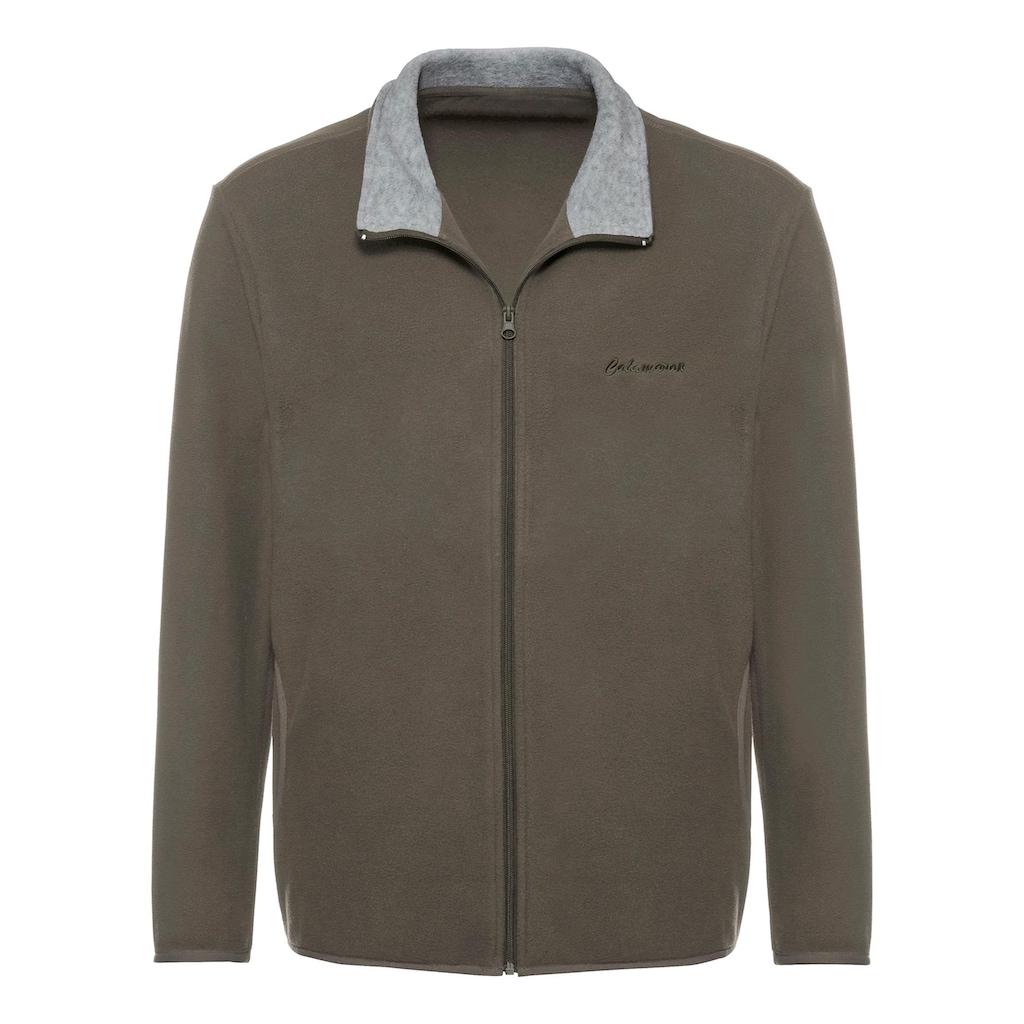 Catamaran Fleece-Jacke mit kontrastfarbenem Stehkragen innen