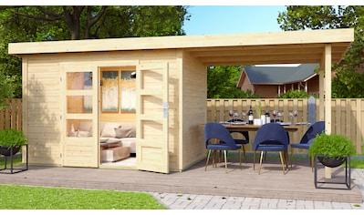 KONIFERA Gartenhaus »Schaalsee 2«, inkl. Anbaudach kaufen