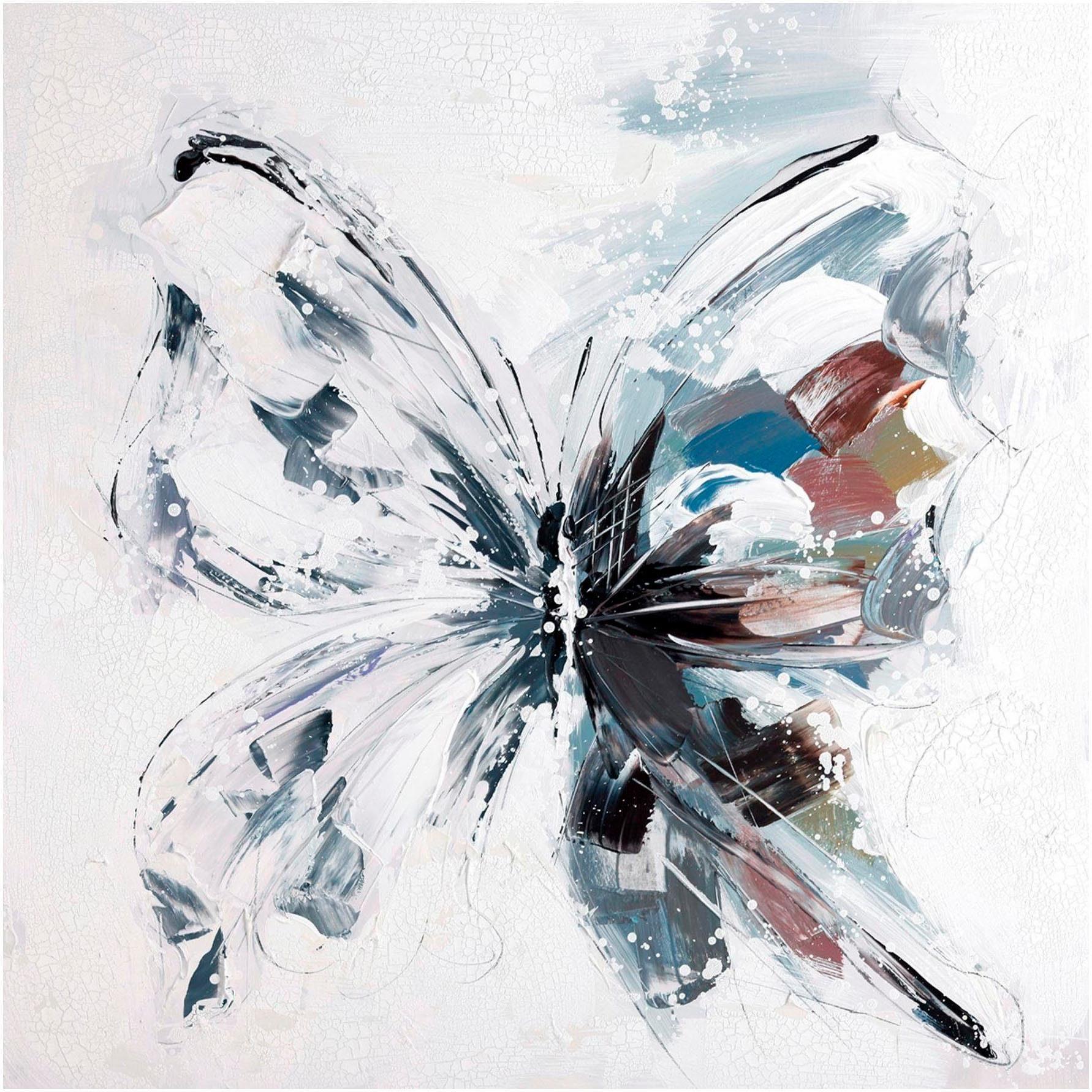 Premium collection by Home affaire Gemälde Butterfly Wohnen/Accessoires & Leuchten/Wohnaccessoires/Bilder & Bilderrahmen/Gemälde