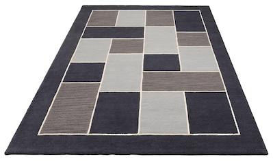 Theko Exklusiv Wollteppich »Talida«, rechteckig, 14 mm Höhe, reine Wolle, Handgearbeiteter Wollteppich, Wohnzimmer kaufen