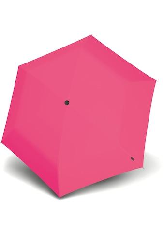 Knirps® Taschenregenschirm »Knirps U.200 Ultra Light Duomatic, Uni Neon Pink« kaufen