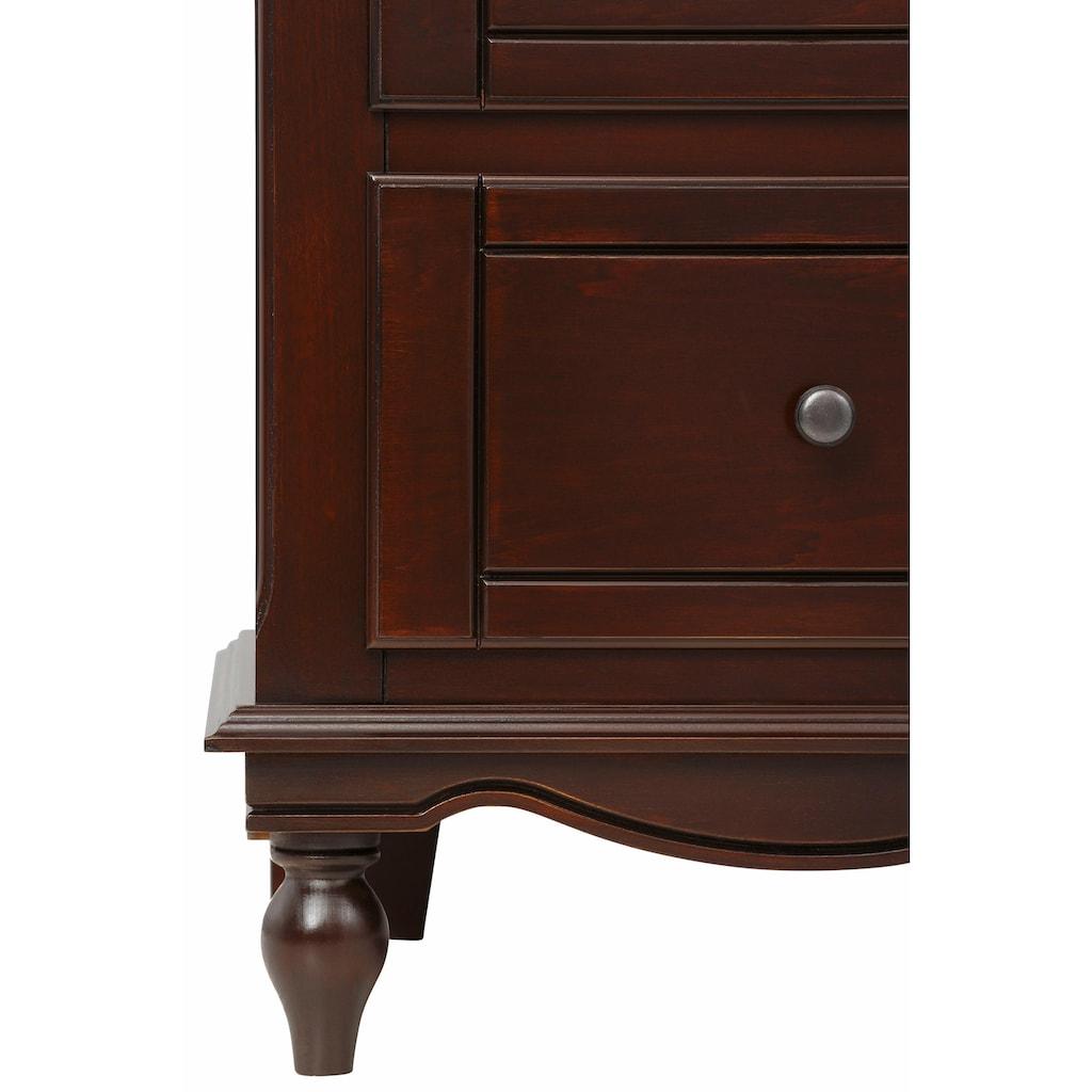 Premium collection by Home affaire Kommode »Katarina«, mit schönen Metallgriffen, mit edler geschwungener Blende, mit 3 Schubladen