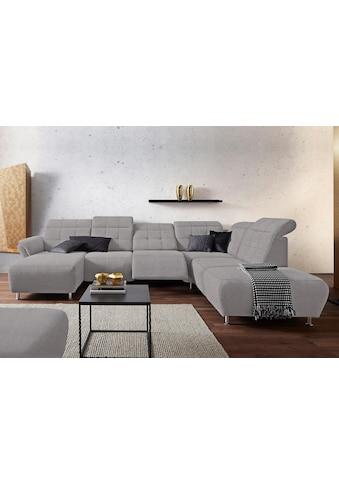 Places of Style Wohnlandschaft »Manhattan«, 2 Sitze mit elektrischer Relaxfunktion,... kaufen