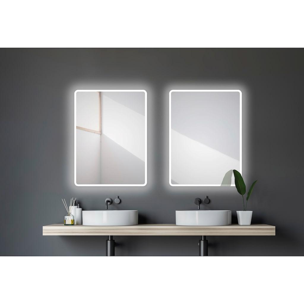 Talos Badspiegel »Moon«, 80 x 60 cm, Design Lichtspiegel