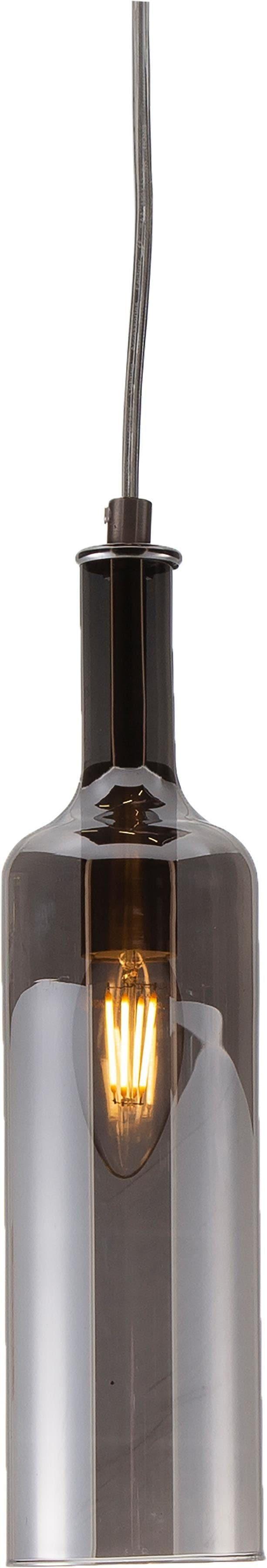 Nino Leuchten Pendelleuchte Bottle, E14, Warmweiß, Hängeleuchte, Hängelampe
