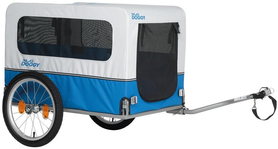XLC Fahrradhundeanhänger Doggy Van blau Rad-Ausrüstung Radsport Sportarten Fahrradanhänger