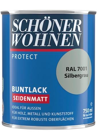 SCHÖNER WOHNEN-Kollektion Lack »Protect Buntlack«, seidenmatt, 750 ml, silbergrau RAL 7001 kaufen