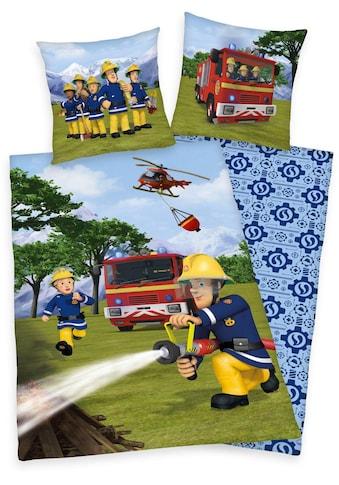 Feuerwehrmann Sam Kinderbettwäsche »Feuerwehrmann Sam«, mit Löschzug und Helikopter kaufen