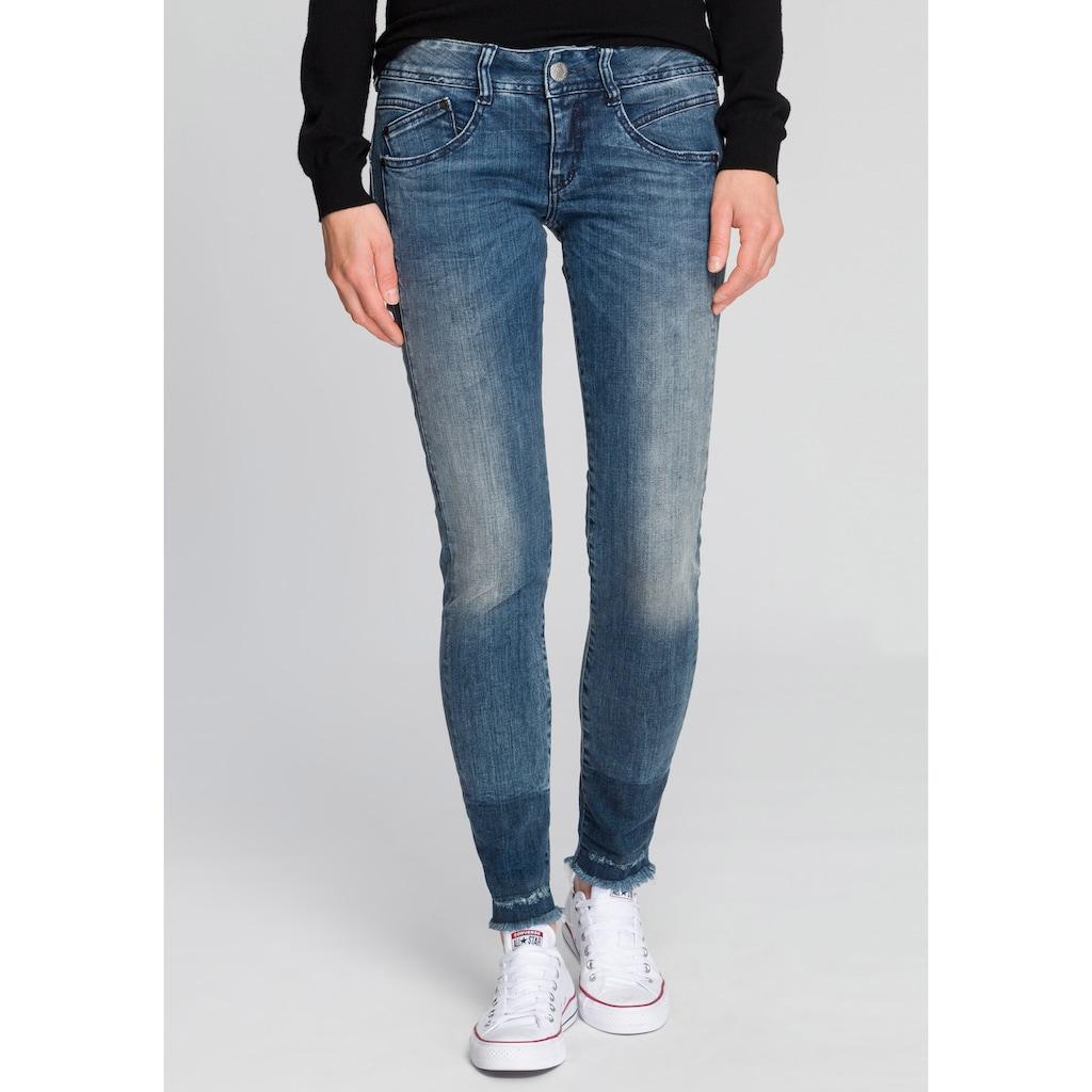 Herrlicher Slim-fit-Jeans »GILA SLIM CROPPED«, Powerstretch mit seitlichem Keileinsatz