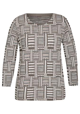 Rabe Rundhalsshirt mit Ethno - Muster kaufen