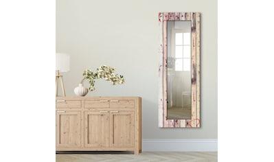 Artland Wandspiegel »Vintage Hintergrund Holzwand mit Herz«, gerahmter... kaufen