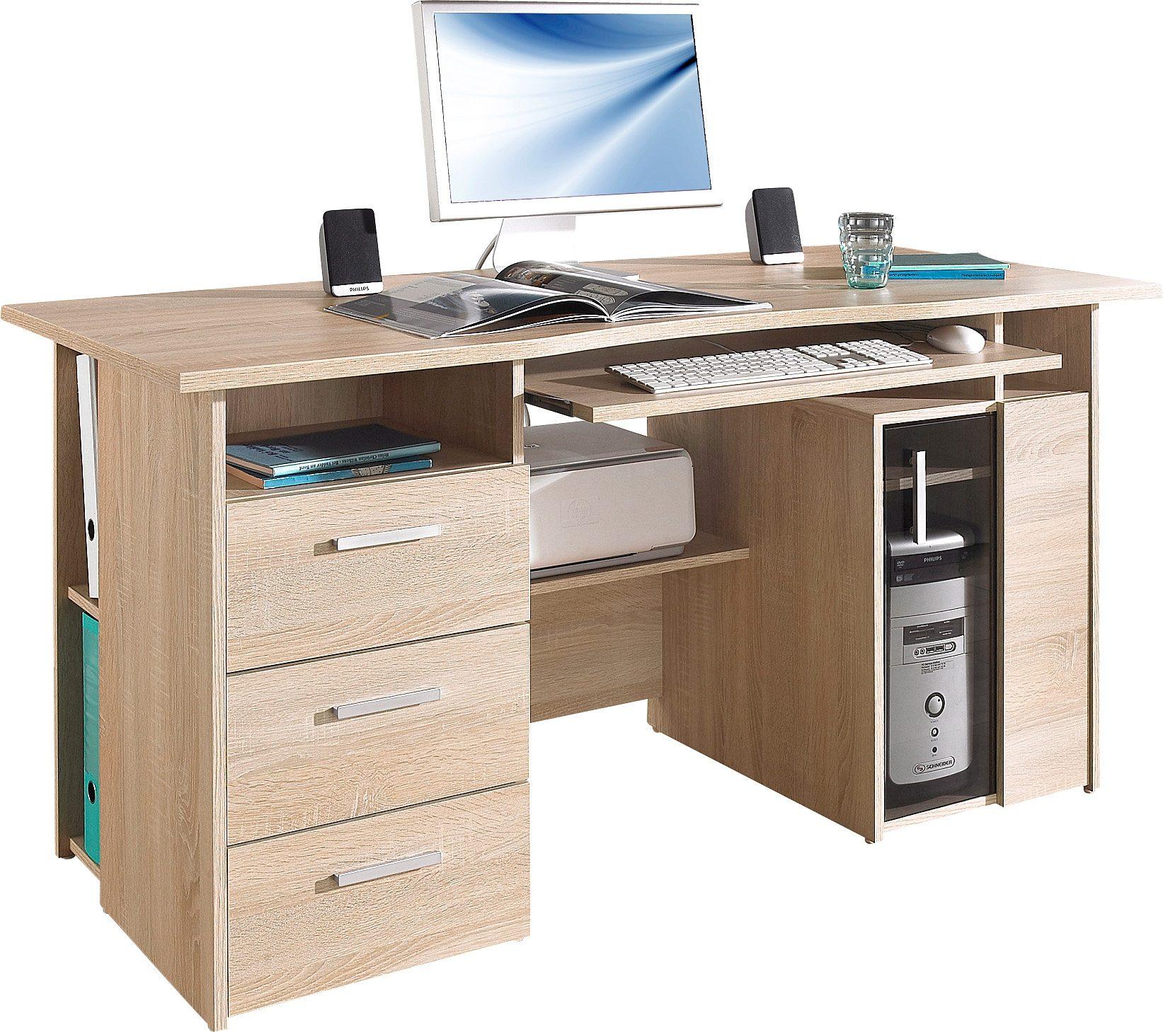 Maja Möbel Computertisch Heide mit Tastaturauszug und Druckerfach