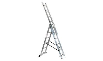 SZ METALL Schiebeleiter, Aluminium, 3 x 6 Sprossen, 166/46/16 cm (H/B/T) kaufen