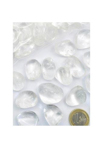 Adelia´s Kettenanhänger »Bergkristall Trommelstein / Mineralie Stern« kaufen