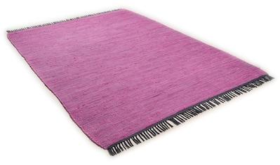 TOM TAILOR Teppich »Cotton Colors«, rechteckig, 8 mm Höhe, Flachgewebe, mit Fransen, Wohnzimmer kaufen