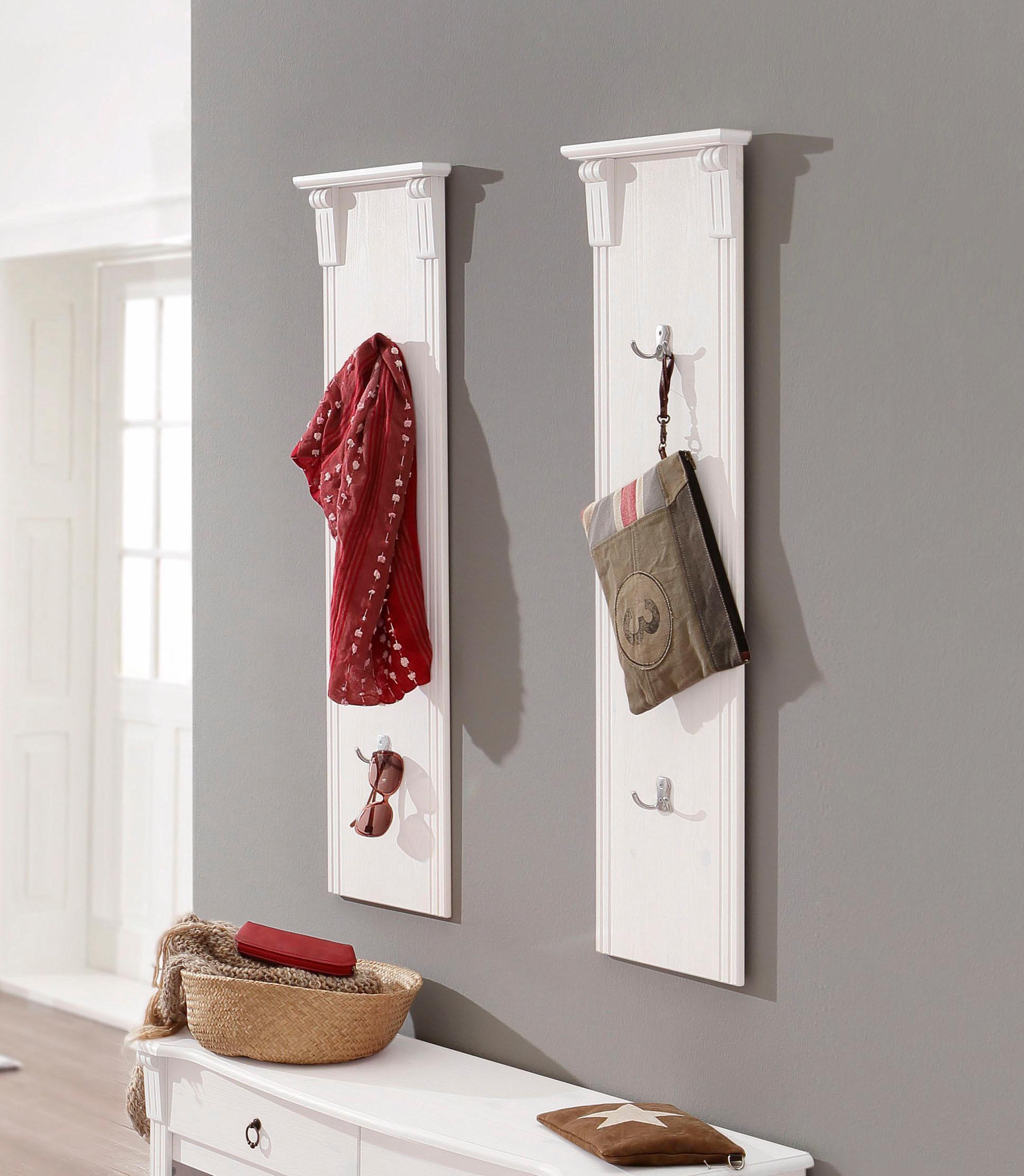 Home affaire Garderobenpaneel, als 2er-Set, Breite 30 cm je Paneel weiß Garderobenpaneele Garderoben Garderobenpaneel
