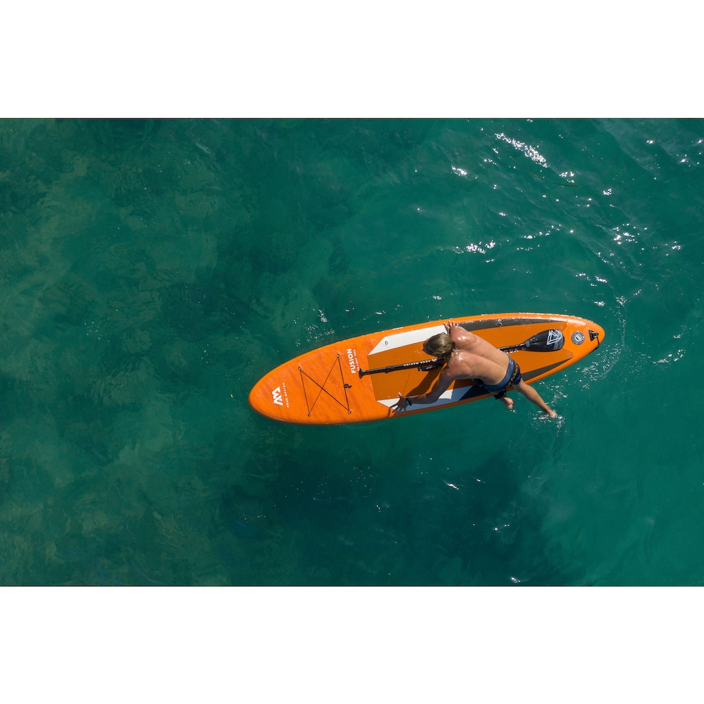 Aqua Marina Inflatable SUP-Board »Fusion iSUP BT-21FUP«, (Set, 6 tlg., mit Paddel, Pumpe und Transportrucksack)