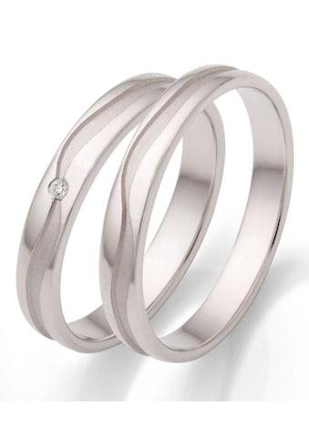 Firetti Trauring mit Gravur »glanz, sandmatt, wellenförmiger Diamantschnitt,... kaufen