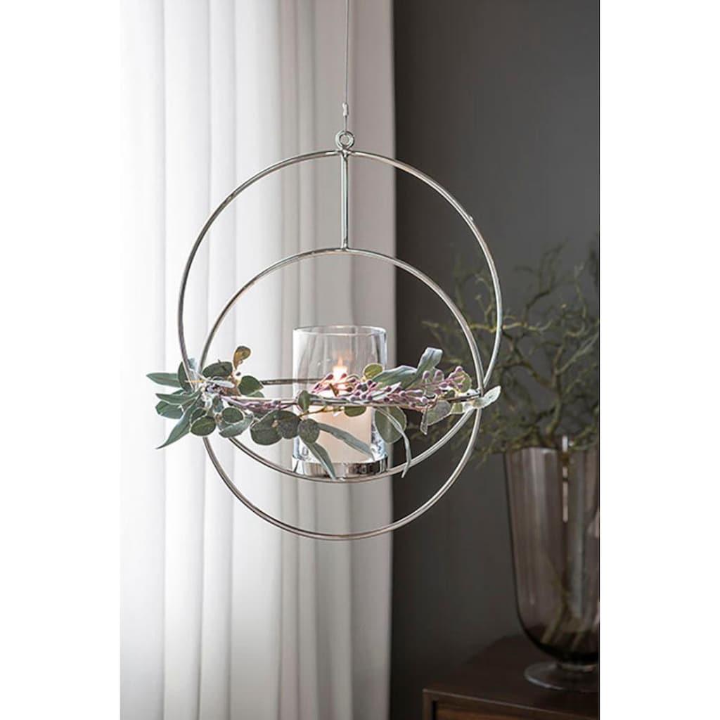 Fink Kerzenhalter »LUA«, Hängeleuchter, Kerzenleuchter, zum Aufhängen, rund, in Handarbeit hergestellt, verschiedene Größen erhältlich