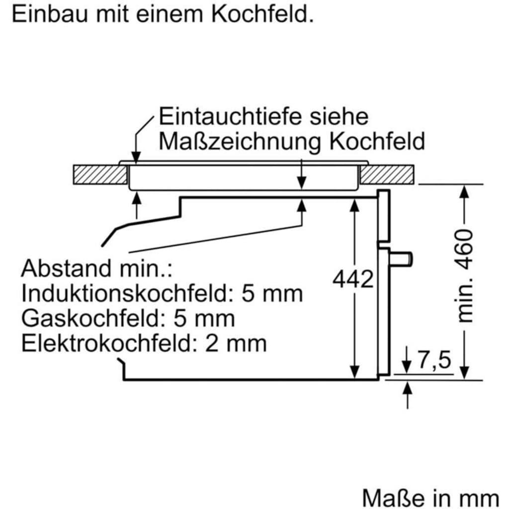 SIEMENS Pyrolyse Backofen »CB674GBS3«, CB674GBS3, mit Teleskopauszug nachrüstbar, Aqua-Reinigungsfunktion