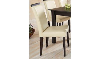 Home affaire Esszimmerstuhl »Genova«, aus schönem Kunstleder, in verschiedenen Farben, zwischen zwei verschiedene Beinfarben auswählbar, Sitzhöhe 46 cm kaufen