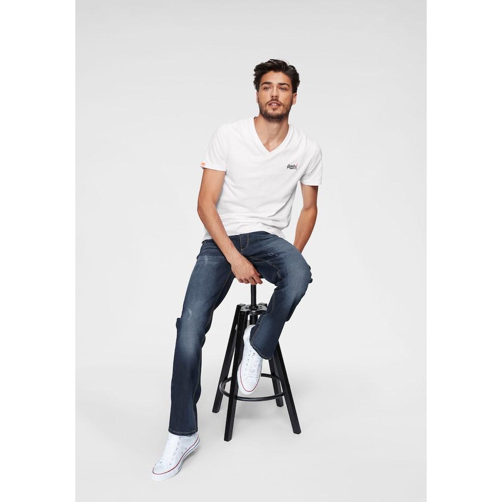 John Devin Straight-Jeans, mit Elasthan