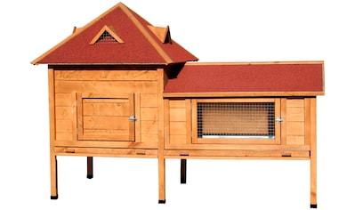 DOBAR Kleintierstall »Residenz XXL«, BxTxH: 190x98x138 cm, mit Freilaufgehege kaufen