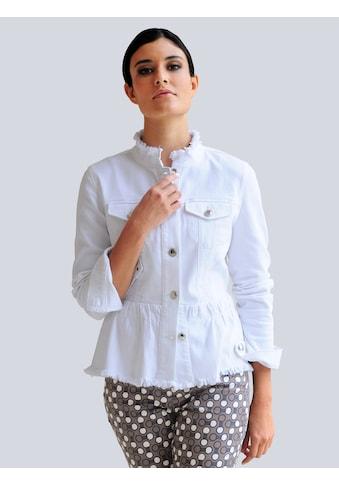 Alba Moda Jeansjacke, mit Fransen-Kanten Verarbeitung kaufen