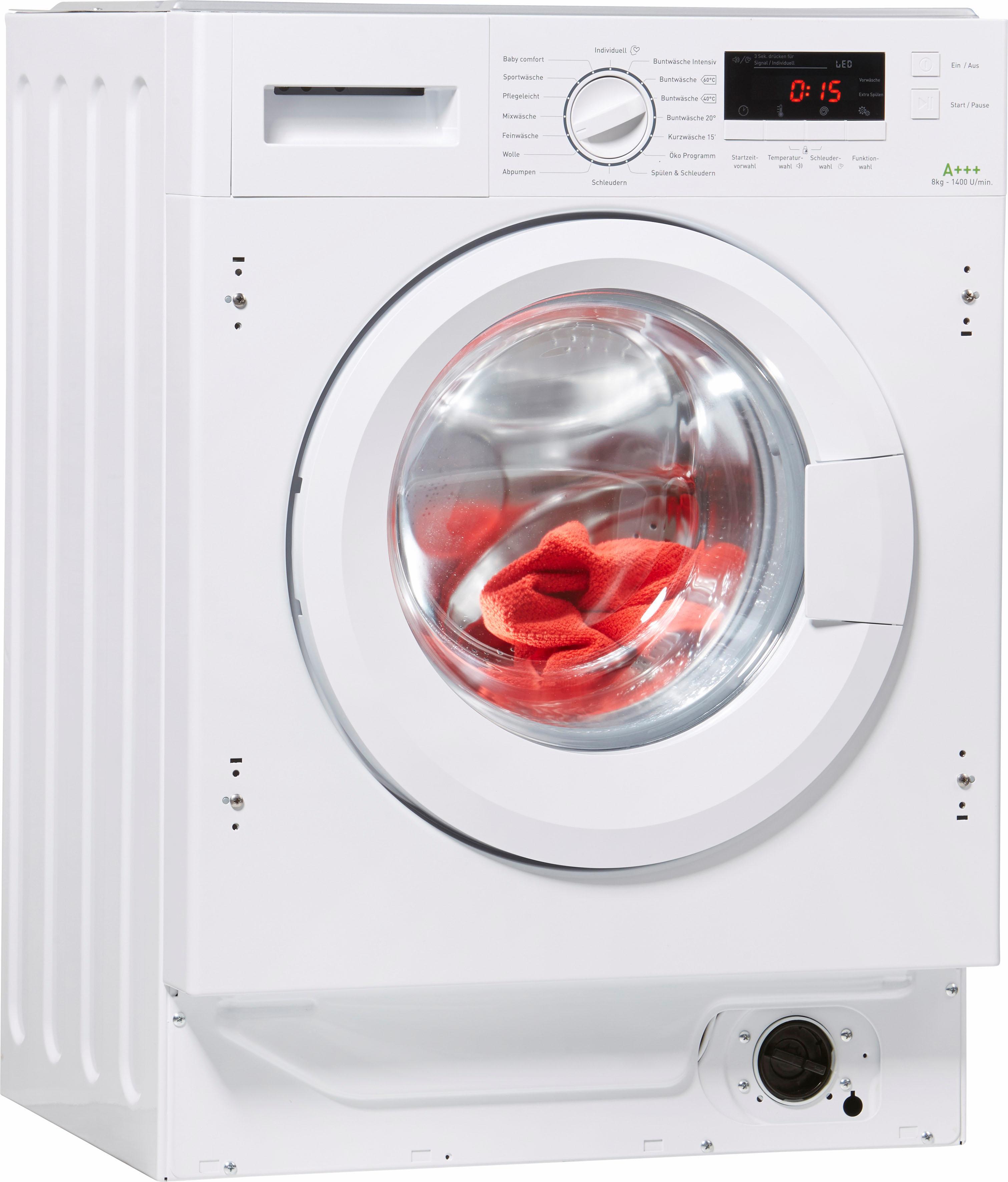 Amica Einbauwaschmaschine EWA 34657 W EEK A+++ weiß Waschmaschinen Haushaltsgeräte Waschmaschine