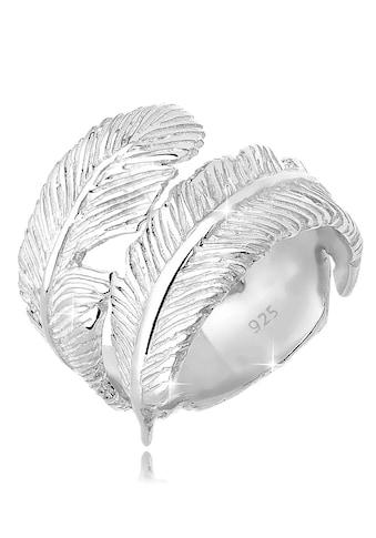 Elli Fingerring »Offen mit Feder Design 925 Silber« kaufen