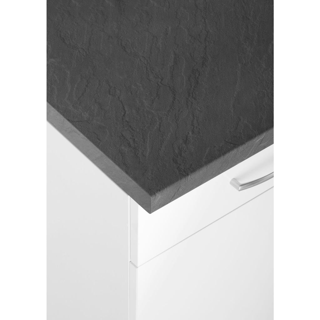 wiho Küchen Küchenzeile »Brüssel«, mit E-Geräten, Breite 280 cm