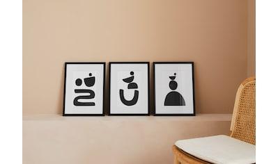 LeGer Home by Lena Gercke Bild »Black is Beautiful SET«, Abstrakt, (3 St.) kaufen