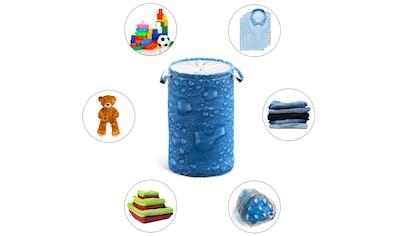 Sanilo Wäschekorb »Tautropfen Blau«, 60 Liter, faltbar, mit Sichtschutz kaufen