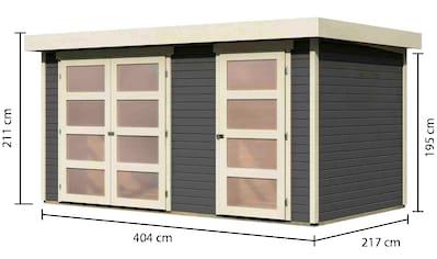 KARIBU Gartenhaus »Mühlentrup«, BxT: 428x238 cm, mit Nebenraum kaufen