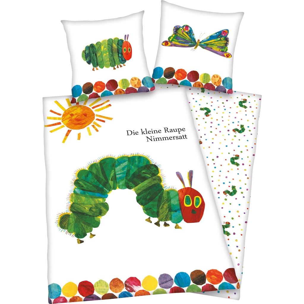 Kinderbettwäsche »Die kleine Raupe Nimmersatt«, mit niedlichem Motive