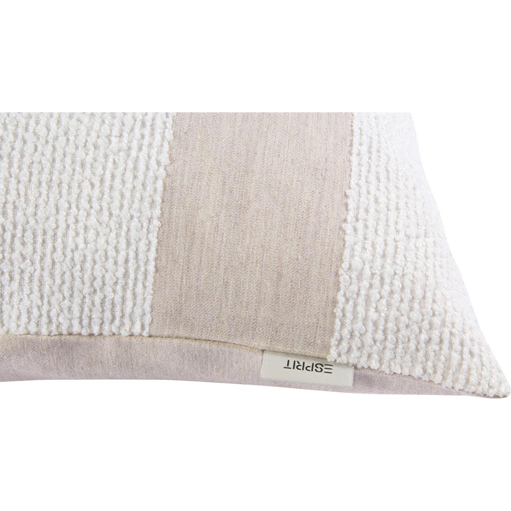 Esprit Kissenbezug »Finlay Stripe«, (1 St.), mit unifarbener Bouclé-Strucktur
