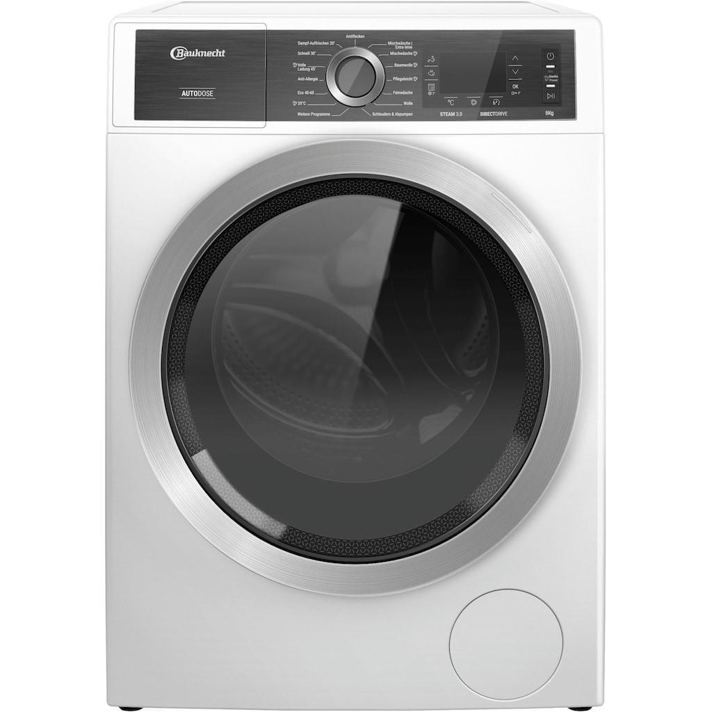 BAUKNECHT Waschmaschine »B8 W846WB DE«, B8 W846WB DE, 8 kg, 1400 U/min, 4 Jahre Herstellergarantie