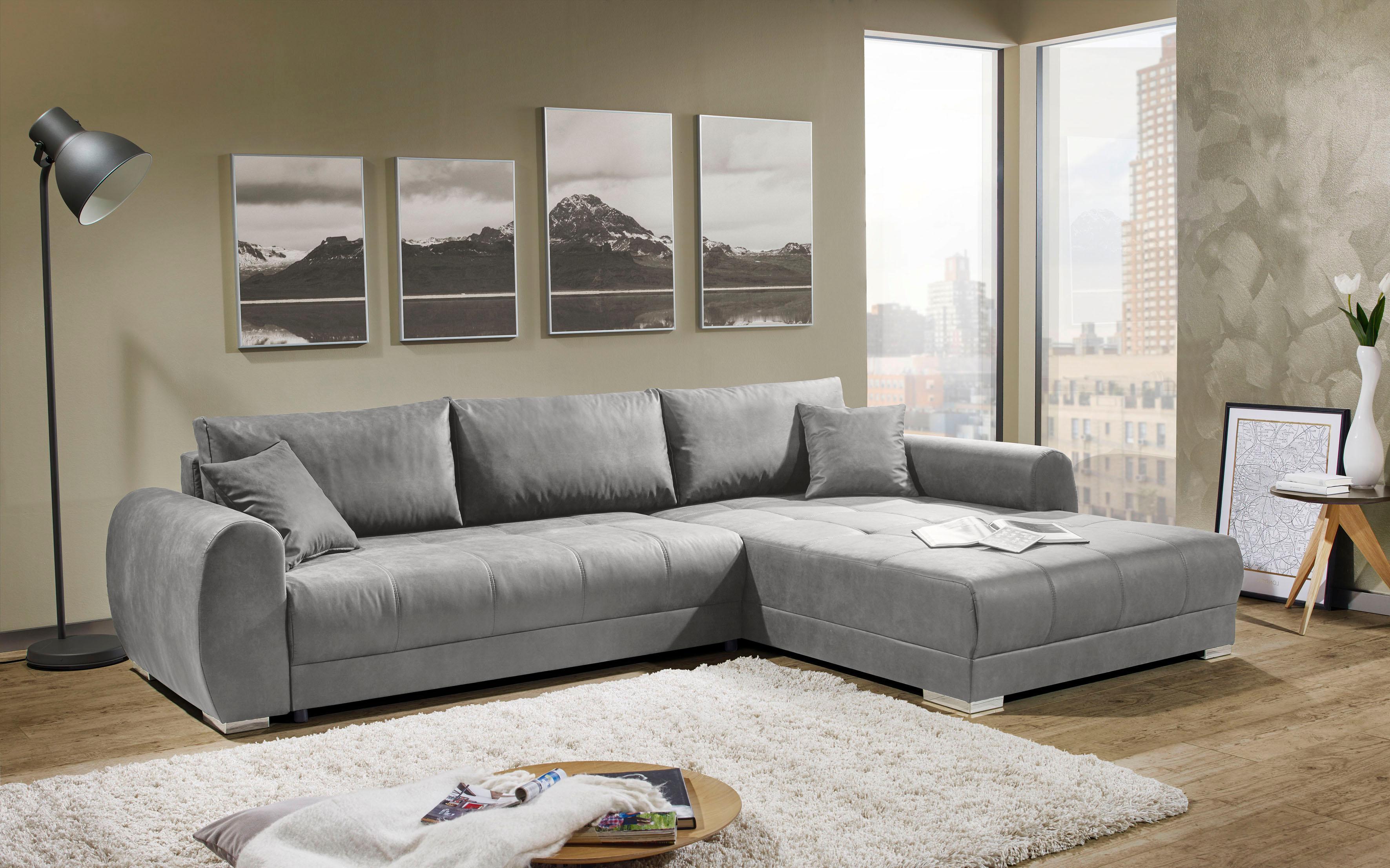 Places of Style Ecksofa Renton143 mit Bettfunktion