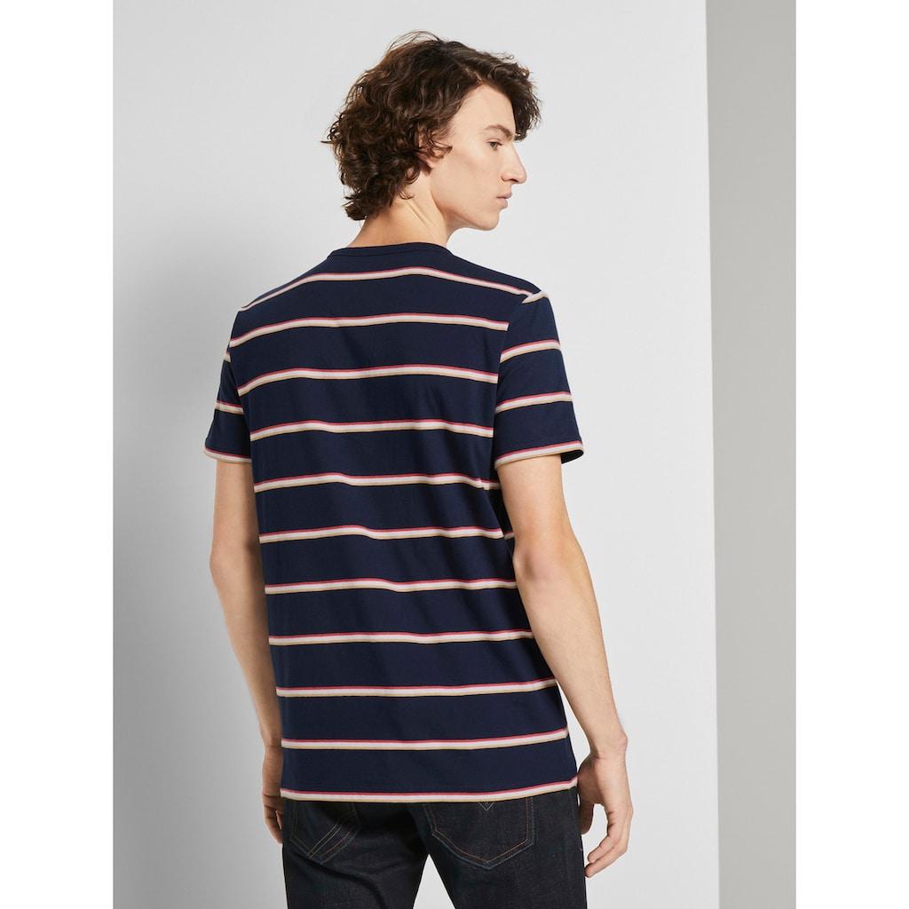 TOM TAILOR Denim T-Shirt »T-Shirt mit Streifenmuster«