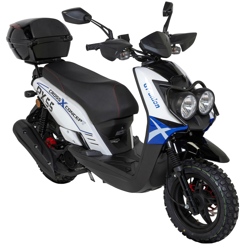 GT UNION Motorroller »PX 55 Cross-Concept«, 8,4 PS, inkl. Topcase