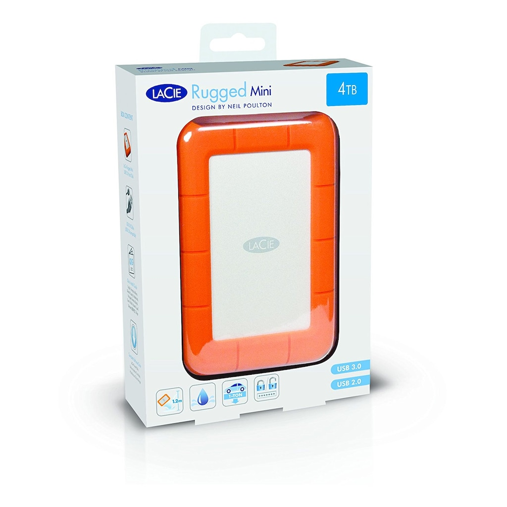 "LaCie externe HDD-Festplatte »Rugged Mini 4TB«, 2,5 "", 2,5"""