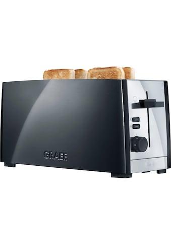 Graef Toaster »TO 102, schwarz-matt«, 2 lange Schlitze, für 4 Scheiben, 1380 W kaufen