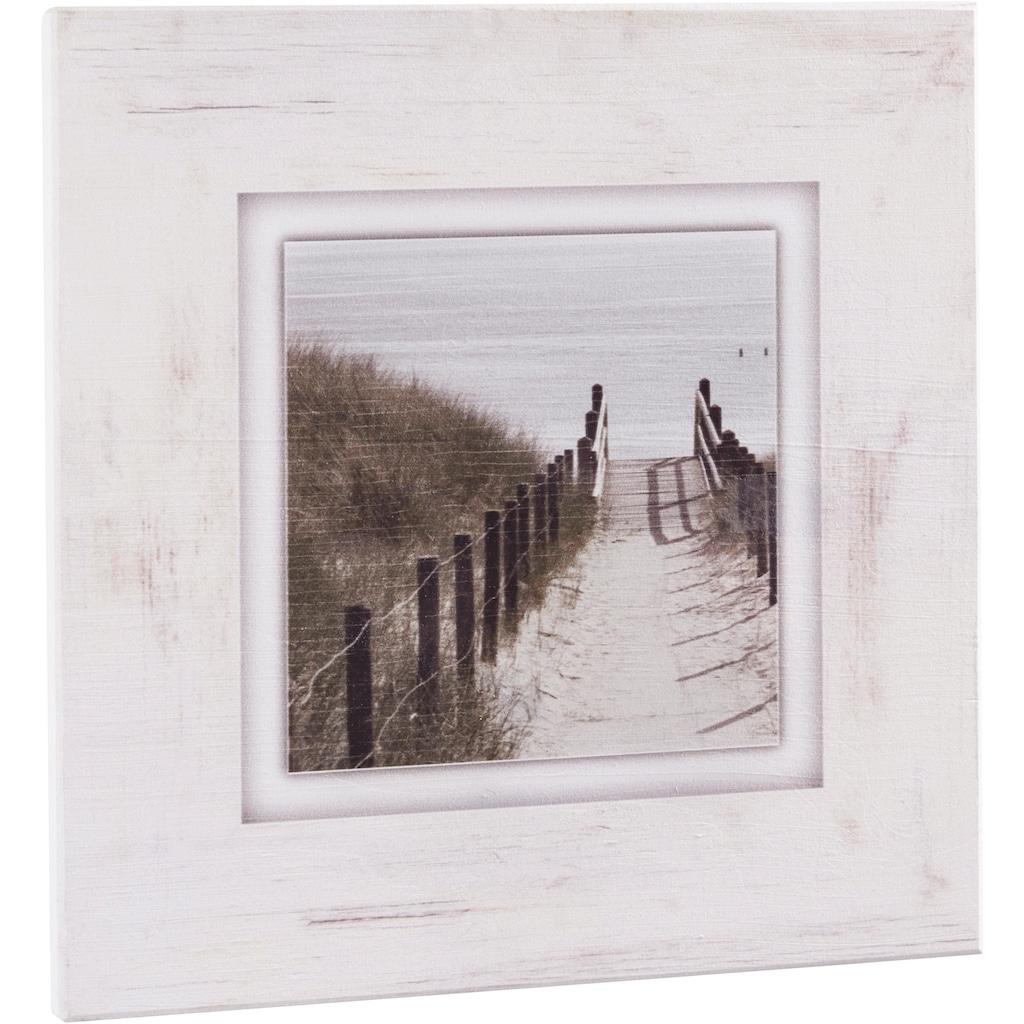 Home affaire Holzbild »Strandweg«, 40/40 cm